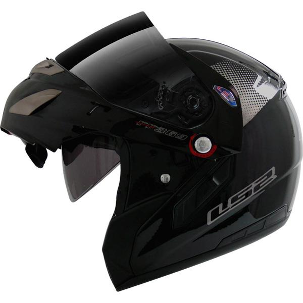 Capacete LS2 FF369 Delta Preto Brilhante - Escamoteável -  ( Entre 5 Mais Vendidas) Ganhe Balaclava  - Super Bike - Loja Oficial Alpinestars