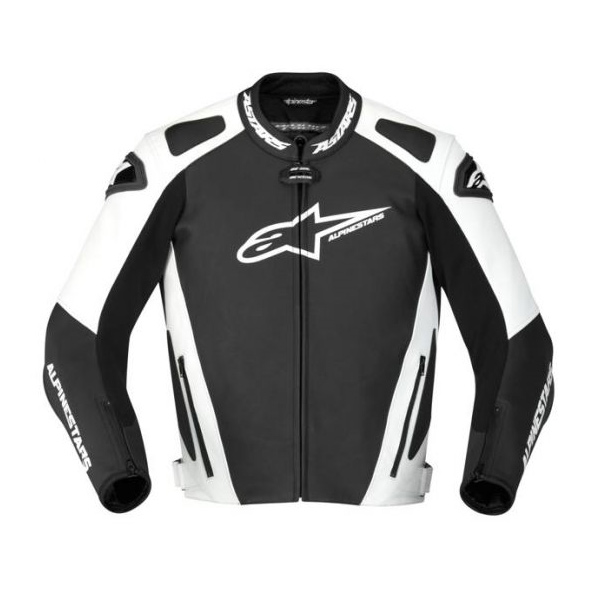 Jaqueta Alpinestars GP Pro Couro (Preta Branco)  - Super Bike - Loja Oficial Alpinestars