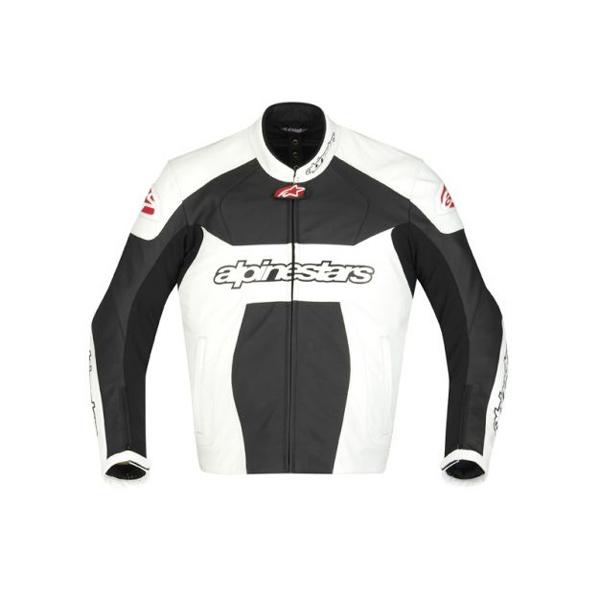 Jaqueta Alpinestars GP Plus Couro (Preta Branco)  - Super Bike - Loja Oficial Alpinestars