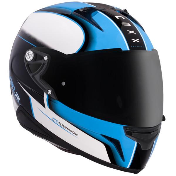 Capacete Nexx XR1R Motion Azul Bondi - Ganhe balaclava  - Super Bike - Loja Oficial Alpinestars