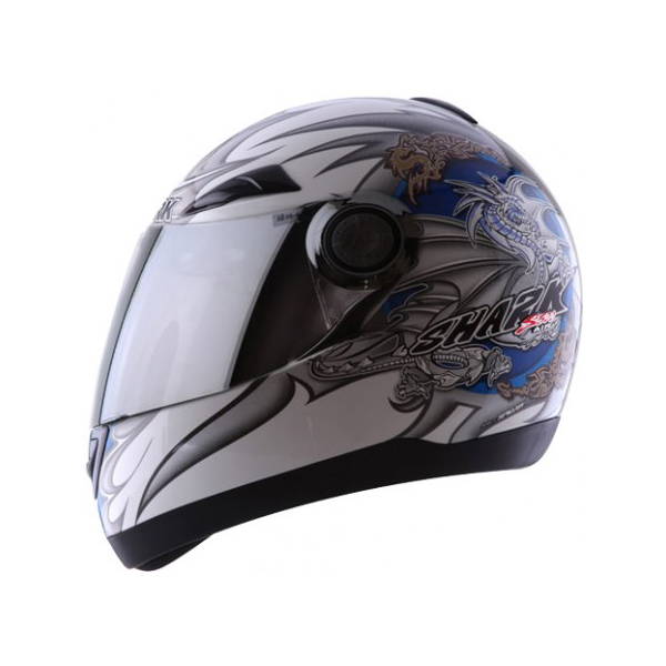 Capacete Shark S500 Air Serie 2 Wings White Blue  - Super Bike - Loja Oficial Alpinestars