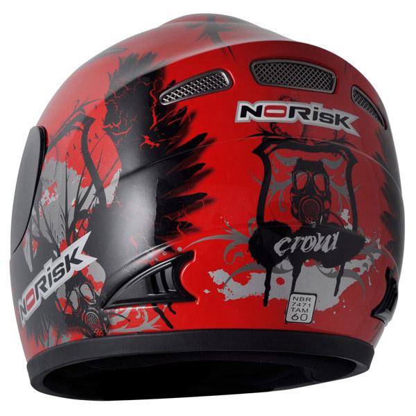 Capacete No-Risk FF336 Crow - Vermelho  - Super Bike - Loja Oficial Alpinestars