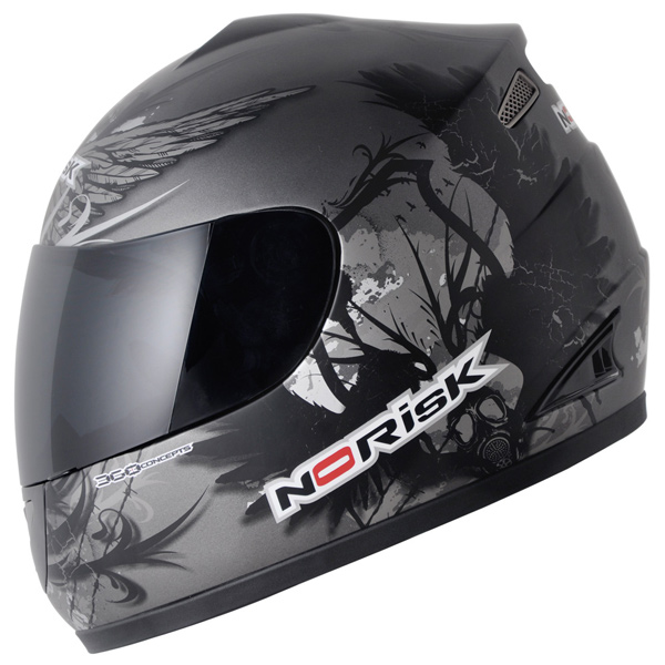 Capacete No-Risk FF336 Crow - Cinza Fosco  - Super Bike - Loja Oficial Alpinestars