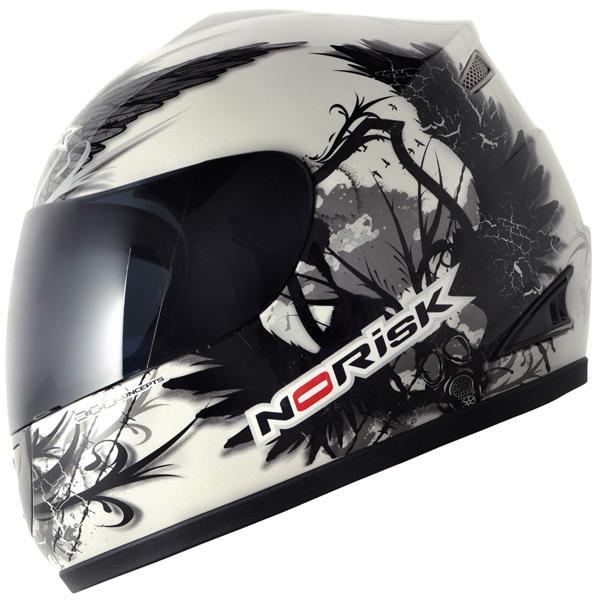Capacete No-Risk FF336 Crow - Branco  - Super Bike - Loja Oficial Alpinestars