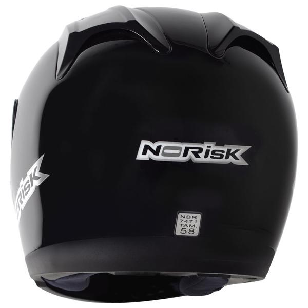 Capacete No-Risk FF301 Monocolor - Preto Brilhante  - Super Bike - Loja Oficial Alpinestars