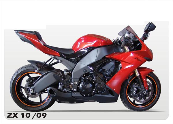 Ponteira Embutida Firetong Willy Made ZX10 2010  - Super Bike - Loja Oficial Alpinestars