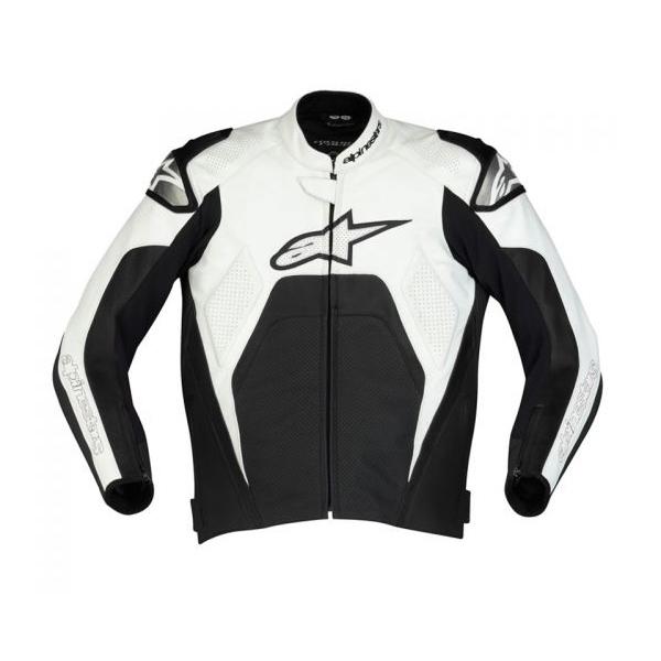 Jaqueta Alpinestars Tech1-R (Preta Branco)  - Super Bike - Loja Oficial Alpinestars