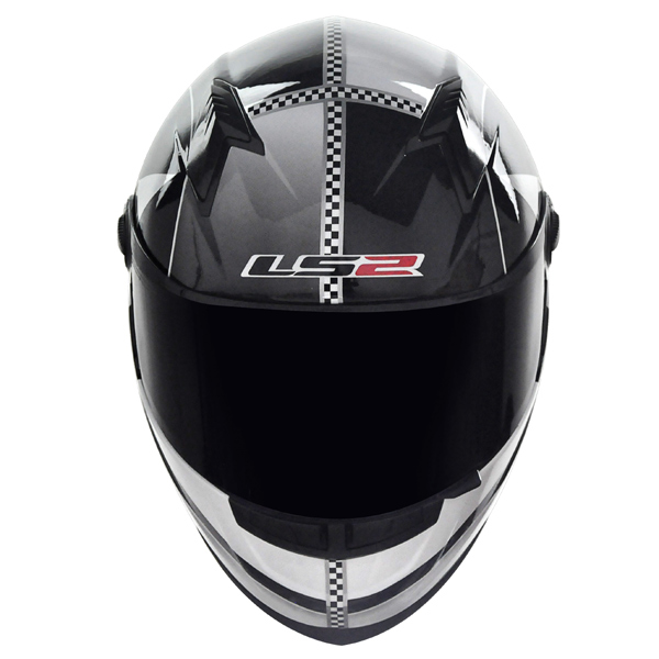 Capacete LS2 FF358 Star - Preto c/ Branco - Ganhe Boné LS2 !!  - Super Bike - Loja Oficial Alpinestars