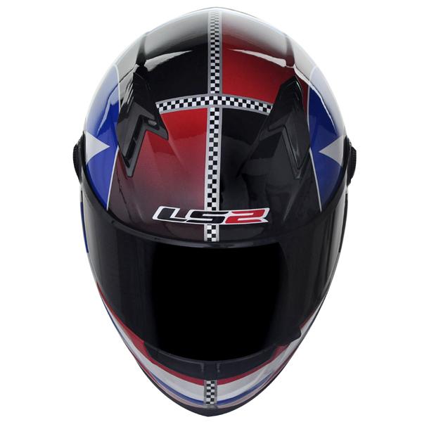 Capacete LS2 FF358 Star - Vermelho c/ Azul - Ganhe Boné LS2 !!  - Super Bike - Loja Oficial Alpinestars