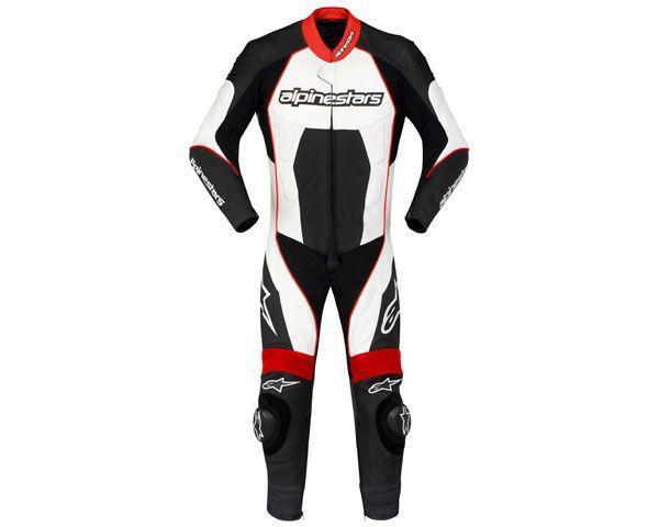 Macacão Alpinestars Carver 1 pç - Preto/Branco/Vermelho  - Super Bike - Loja Oficial Alpinestars