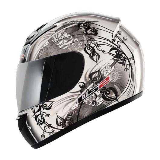 Capacete LS2 FF350 Mangá - Pearl White GANHE BALACLAVA  - Super Bike - Loja Oficial Alpinestars