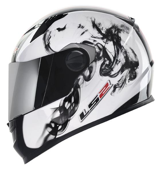 Capacete LS2 FF358 Fog - Branco c/ Vm - Ganhe Boné LS2 !!  - Super Bike - Loja Oficial Alpinestars