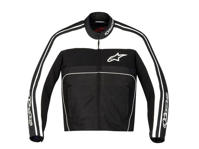 Jaqueta Alpinestars T-Dyno Air (Preta Branca/ Ventilada)  - Super Bike - Loja Oficial Alpinestars