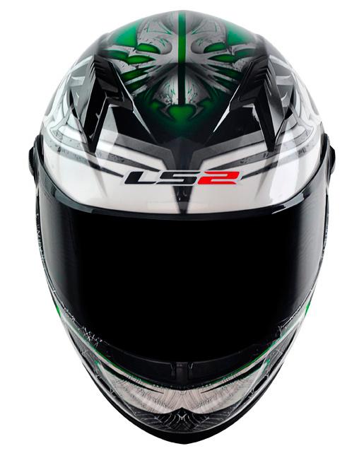 Capacete LS2 FF358 Spider - verde Promo - Ganhe Boné LS2 !!  - Super Bike - Loja Oficial Alpinestars