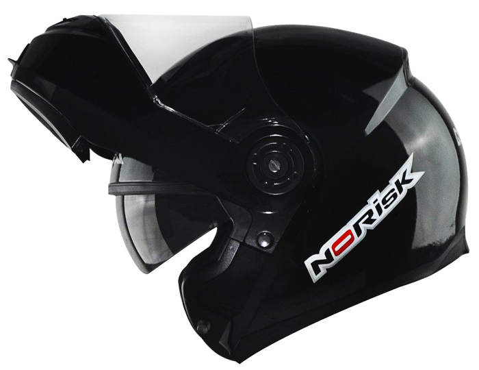 Capacete NoRisk FF370 Preto Brilhante Escamoteável   - Super Bike - Loja Oficial Alpinestars