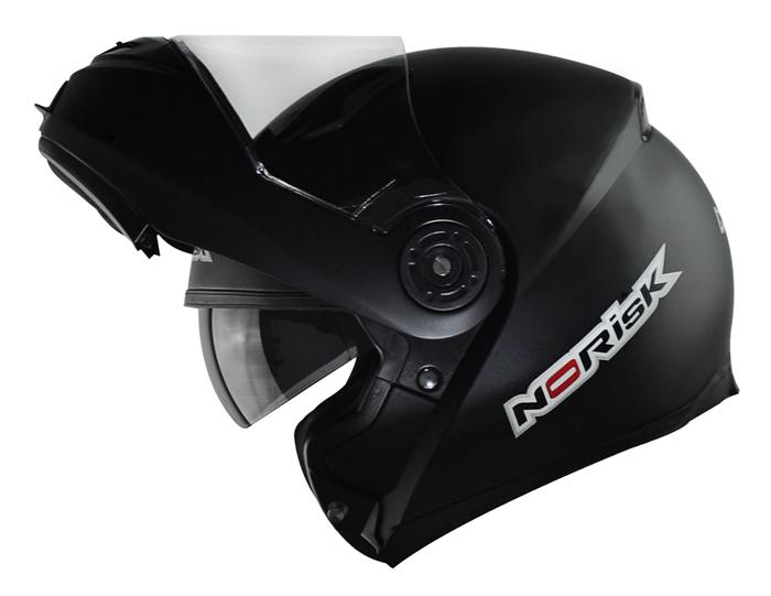 Capacete NoRisk FF370 Preto Fosco Escamoteável  - Super Bike - Loja Oficial Alpinestars
