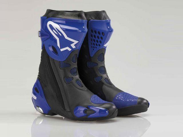 Bota Alpinestars Supertech R (Preta/Azul) - Só 44EUR/42Brasil  - Super Bike - Loja Oficial Alpinestars