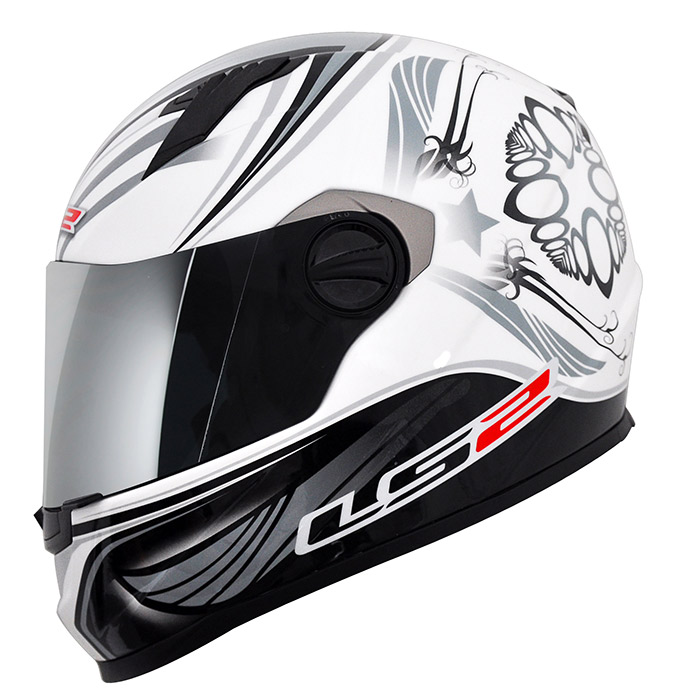 Capacete LS2 FF358 Wings - Preto/Branco Promo - Ganhe Boné LS2 !!  - Super Bike - Loja Oficial Alpinestars