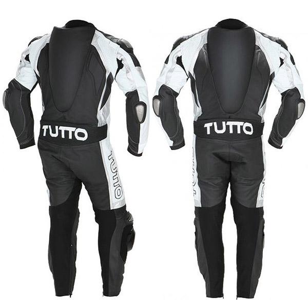 Macacão Tutto Titanium Preto e Branco - 2 peças  - Super Bike - Loja Oficial Alpinestars