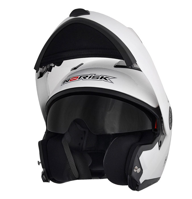 Capacete NoRisk FF370 Escamoteável - Branco  - Super Bike - Loja Oficial Alpinestars