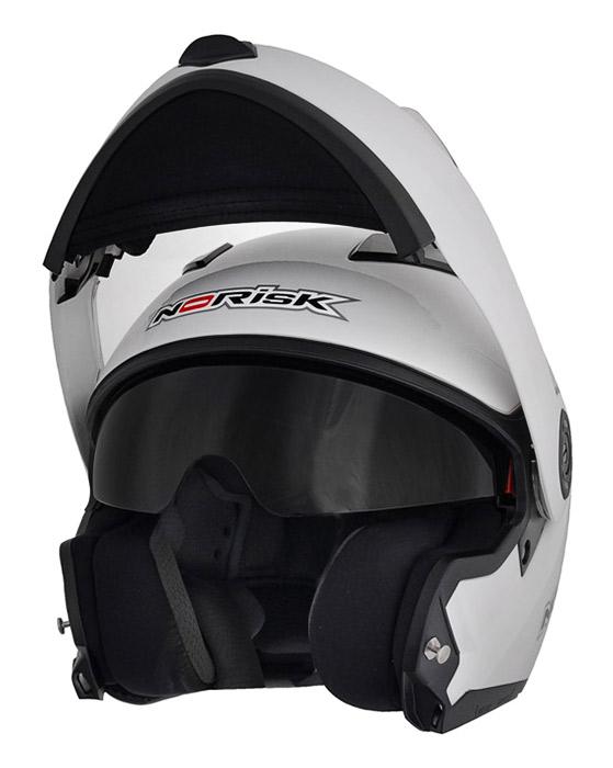 Capacete NoRisk FF370 Prata Escamoteável  - Super Bike - Loja Oficial Alpinestars