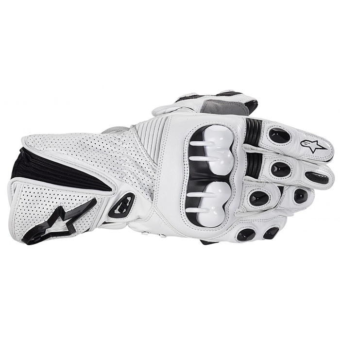 Luva Alpinestars GP Plus - Branca Antiga  - Super Bike - Loja Oficial Alpinestars