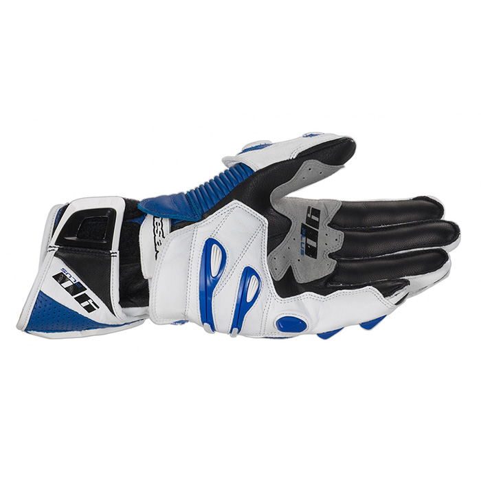 Luva Alpinestars GP Plus - Azul Antiga  - Super Bike - Loja Oficial Alpinestars