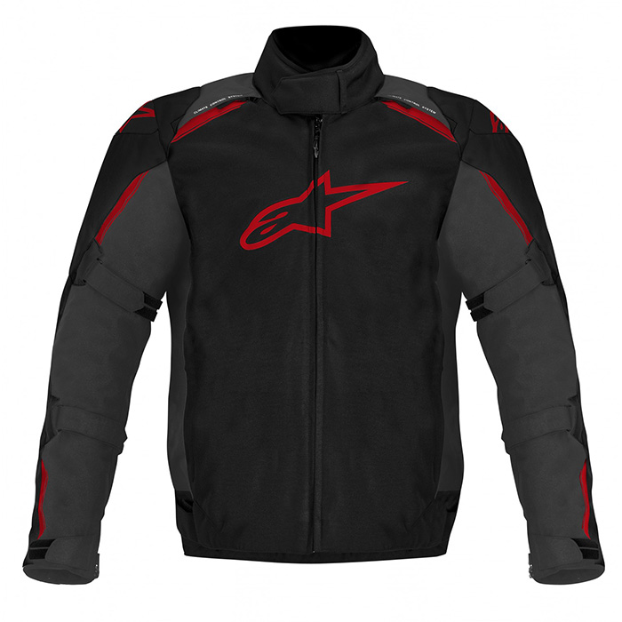 Jaqueta Alpinestars Caladan WP (Preta Vermelha/ Impermeável)  - Super Bike - Loja Oficial Alpinestars