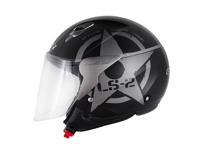 Capacete LS2 OF559 Combat Matt Black - Ganhe Boné LS2 !!  - Super Bike - Loja Oficial Alpinestars
