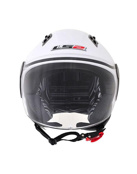 Capacete LS2 OF559 Mono Gloss White -Ganhe Boné LS2 !!  - Super Bike - Loja Oficial Alpinestars