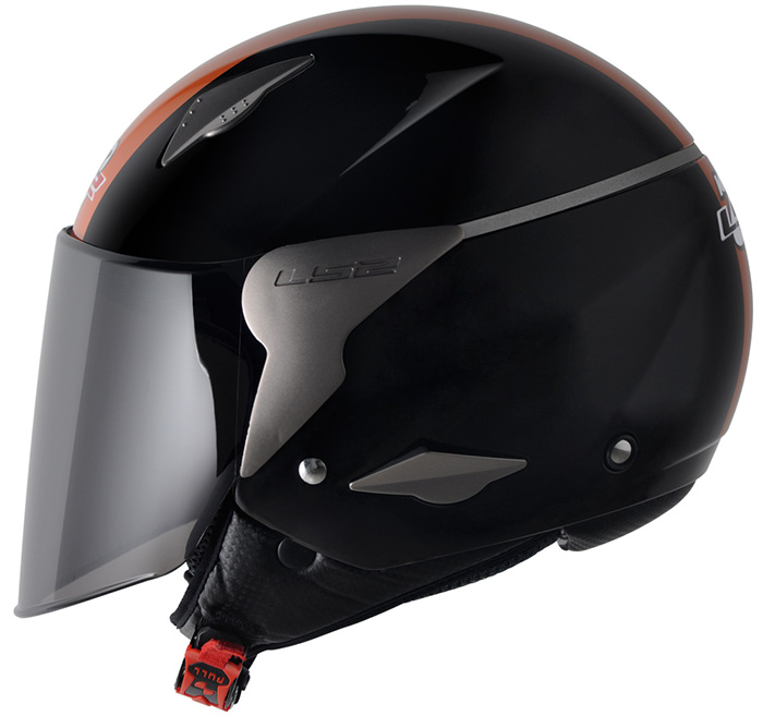Capacete LS2 OF559 Rocket Gloss Black/Orange - Ganhe Boné LS2 !!  - Super Bike - Loja Oficial Alpinestars