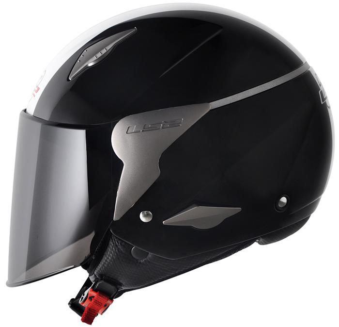 Capacete LS2 OF559 Rocket Gloss Black/White - Ganhe Boné LS2 !!  - Super Bike - Loja Oficial Alpinestars