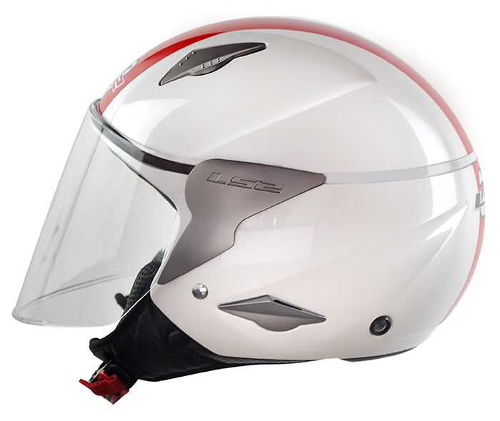 Capacete LS2 OF559 Rocket Gloss White/Red - Ganhe Boné LS2 !!  - Super Bike - Loja Oficial Alpinestars