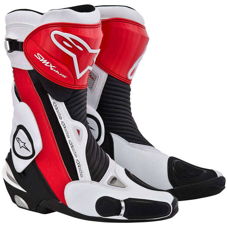 Bota Alpinestars SMX-Plus (Branca Preta Vermelha)  - Super Bike - Loja Oficial Alpinestars
