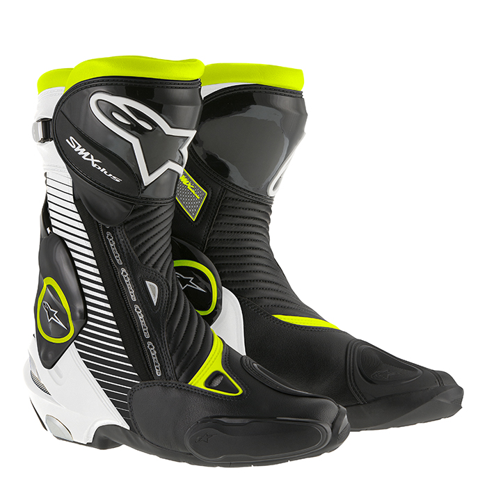 Bota Alpinestars Smx Plus (Tricolor Amarelo) yellow  - Super Bike - Loja Oficial Alpinestars