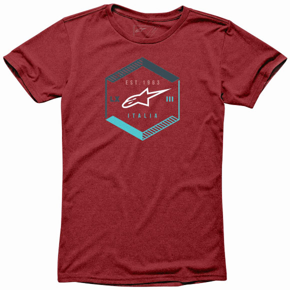 Camiseta Alpinestars Bevel ( Heather Red)  - Super Bike - Loja Oficial Alpinestars