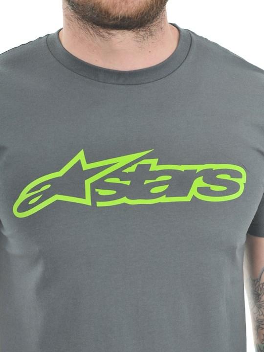 Camiseta Alpinestars Blaze Classic Tee (Cinza e Verde)  - Super Bike - Loja Oficial Alpinestars