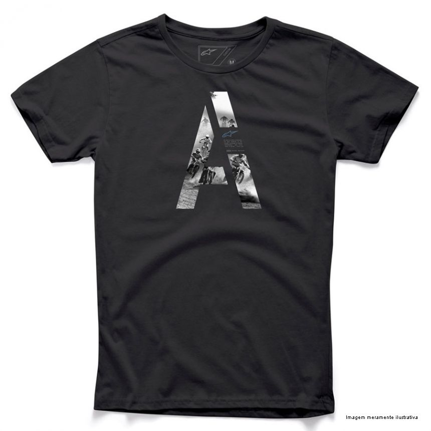 Camiseta Alpinestars Capita (Raw Black)  - Super Bike - Loja Oficial Alpinestars