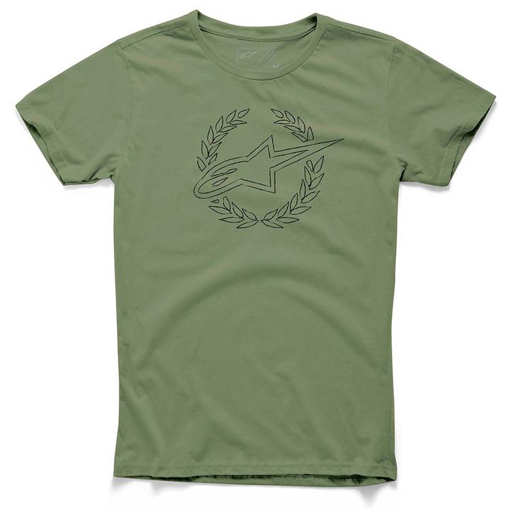 Camiseta Alpinestars Defeat Verde  - Super Bike - Loja Oficial Alpinestars