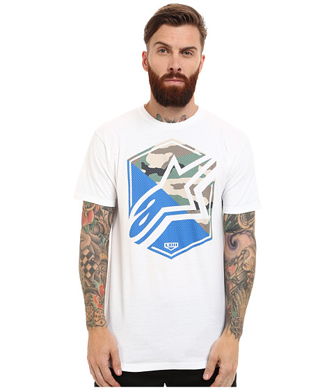 Camiseta ALpinestars Disruption ( Branca)  - Super Bike - Loja Oficial Alpinestars