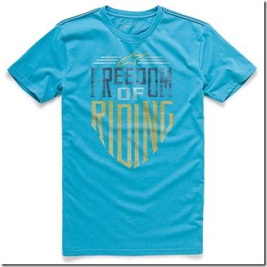 Camiseta ALpinestars Freedom Azul Lançamento (Limitado)  - Super Bike - Loja Oficial Alpinestars