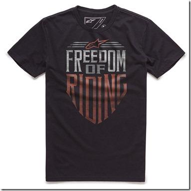 Camiseta Alpinestars Freedom Black Lançamento!! (Limitado)  - Super Bike - Loja Oficial Alpinestars