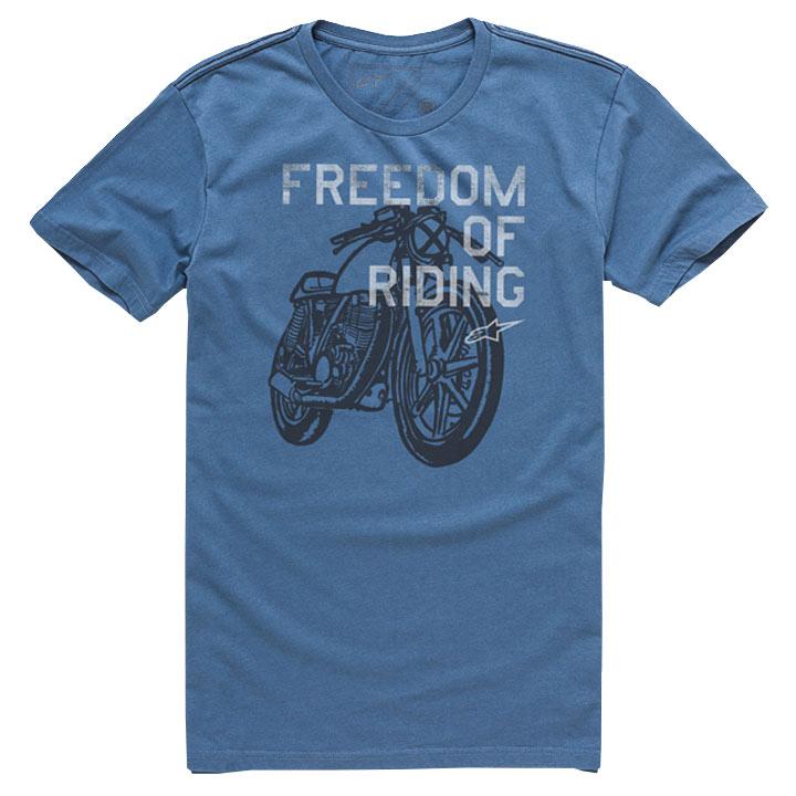 Camiseta Alpinestars Freedom Of Blue Lançamento!!  - Super Bike - Loja Oficial Alpinestars