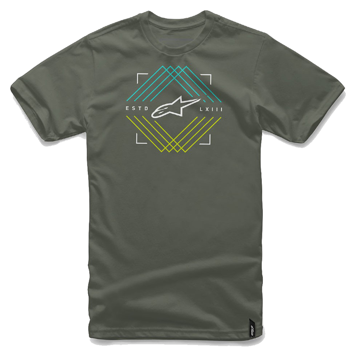 Camiseta Alpinestars Peaks Verde Lan�amento!!  - Super Bike - Loja Oficial Alpinestars