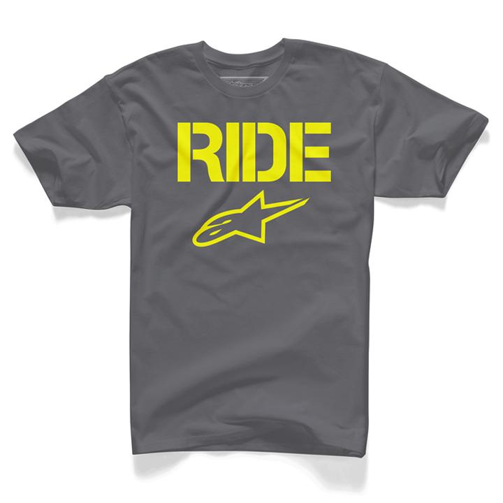 Camiseta ALpinestars Ride Solid Charcoal Lançamento!!  - Super Bike - Loja Oficial Alpinestars