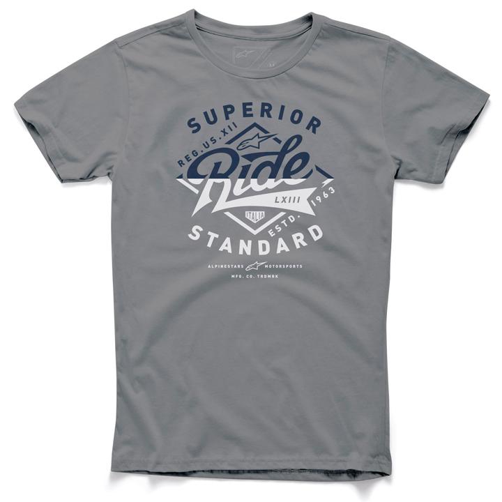 Camiseta Alpinestars Stamp Cinza  - Super Bike - Loja Oficial Alpinestars
