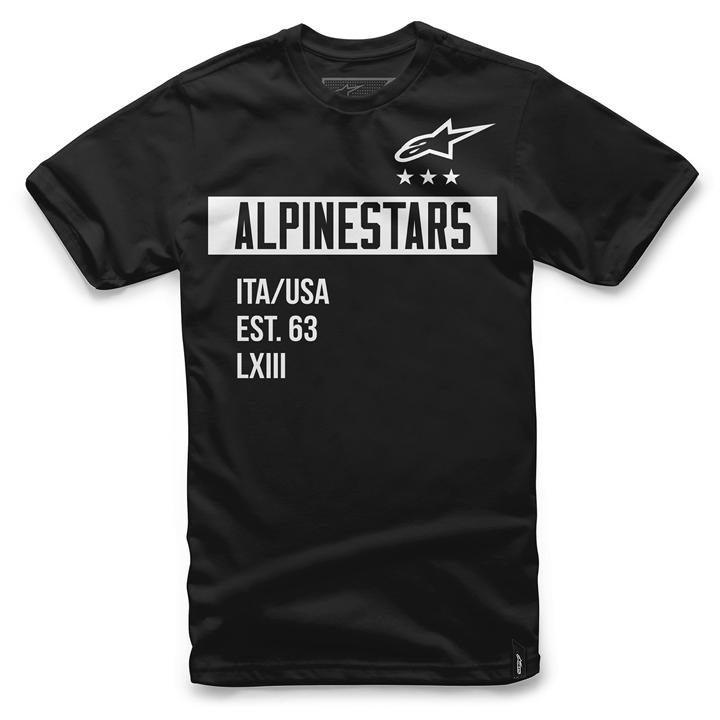 Camiseta Alpinestars Valiant Tee (Black) Lançamento 2016  - Super Bike - Loja Oficial Alpinestars