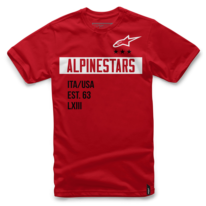 Camiseta Alpinestars Valiant Tee (Red) Lan�amento 2016  - Super Bike - Loja Oficial Alpinestars
