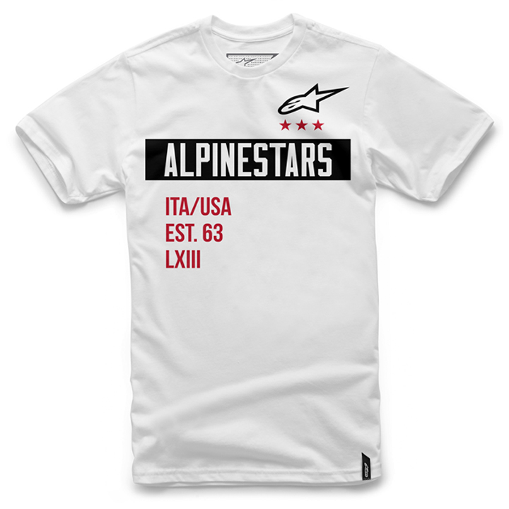Camiseta Alpinestars Valiant Tee (White) Lançamento 2016  - Super Bike - Loja Oficial Alpinestars
