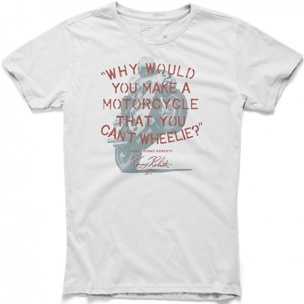 Camiseta Alpinestars Wheelie Branca  - Super Bike - Loja Oficial Alpinestars